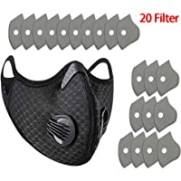 Outdoor Sports Anti Dust Face Mask with Air Pollution Filter for Ski Ice Fishing Cross Bicycle Motorcycle Riding Ski Ice…