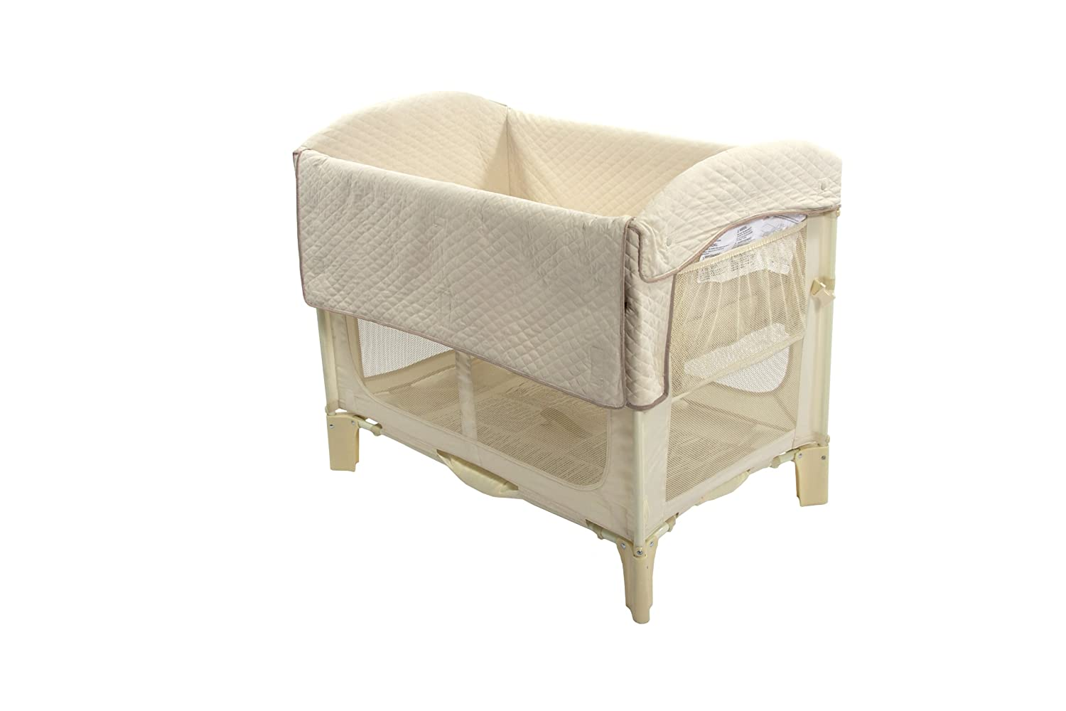 Baby bed extension co sleeper - Amazon Com Arm S Reach Ideal Arc Original Co Sleeper Bedside Bassinet Natural Baby