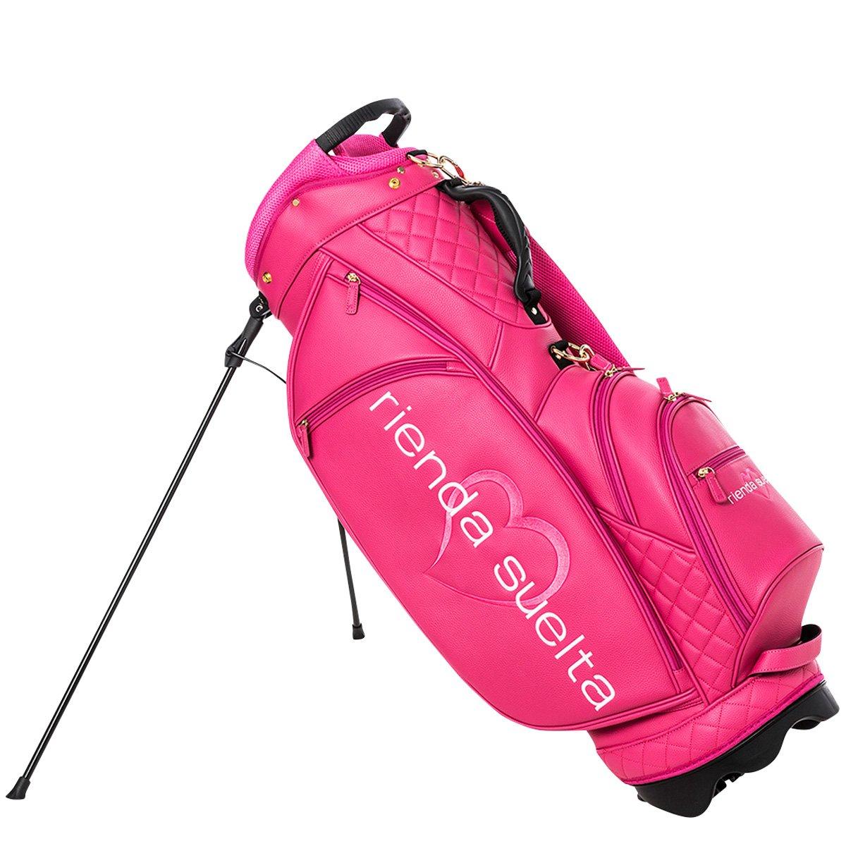 リエンダスエルタゴルフ(Rienda Suelta Golf) キャディーバッグ シュリンク CADDIE BAG RS-8061401 ローズピンク F   B0757P95GP