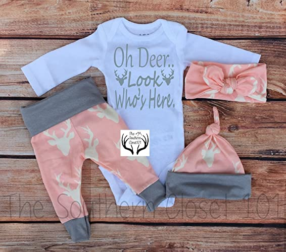 b7ee2cd18 Amazon.com: Baby Girl Coming Home Outfit, Girls Clothing, Clothes ...