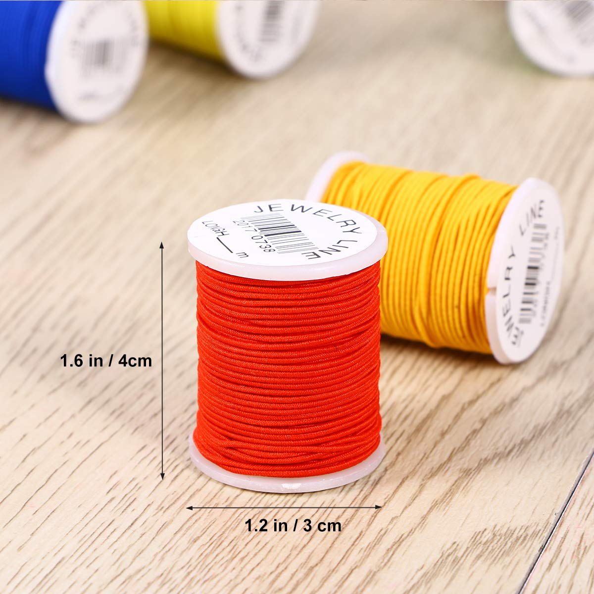 Random Color Supvox 10PCS Nylon Sewing Thread Jewelry Making Craft Beading Elastic Thread Cord Spools