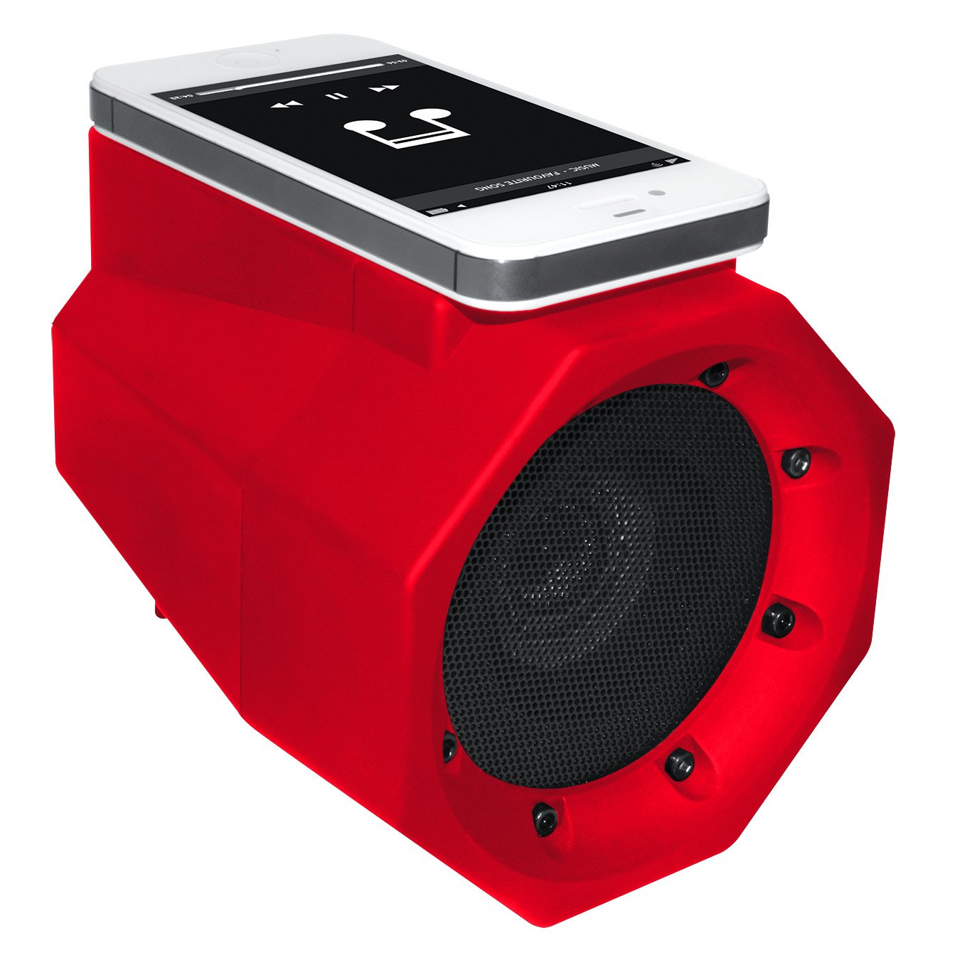 BoomTouch Wireless Touch Portable Speaker Boom Box (As Seen On TV!)- Red