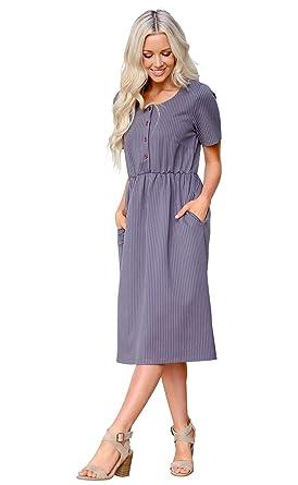 958f828ecc9 Mikarose Raelyn Modest Dress or Modest Nursing Dress at Amazon Women s  Clothing store