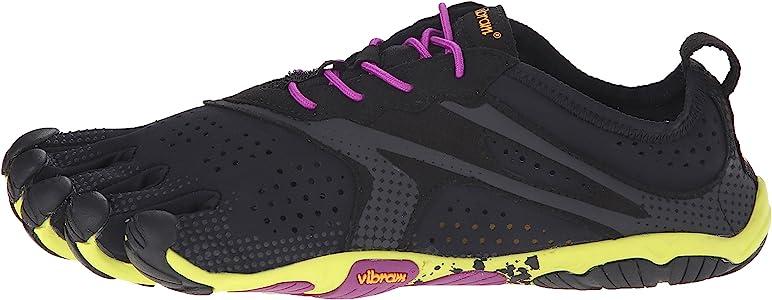 Vibram FiveFingers V-Run, Zapatillas Mujer, Multicolor (Black/yellow/purple), 36 EU: Amazon.es: Zapatos y complementos