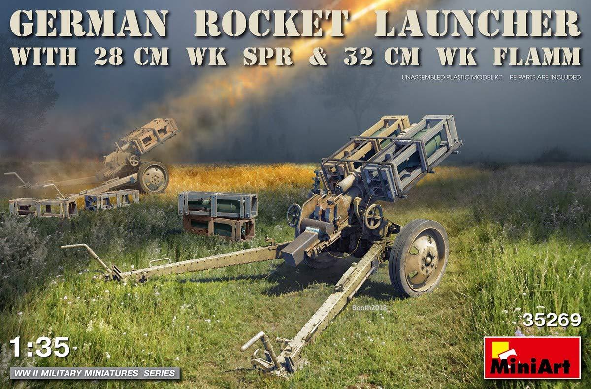 MiniArt 35269 German Rocket Launcher with 28cm WK SPR /& 32cm WK Flamm WWII Military Miniatures 1//35 Scale Plastic Model Kit