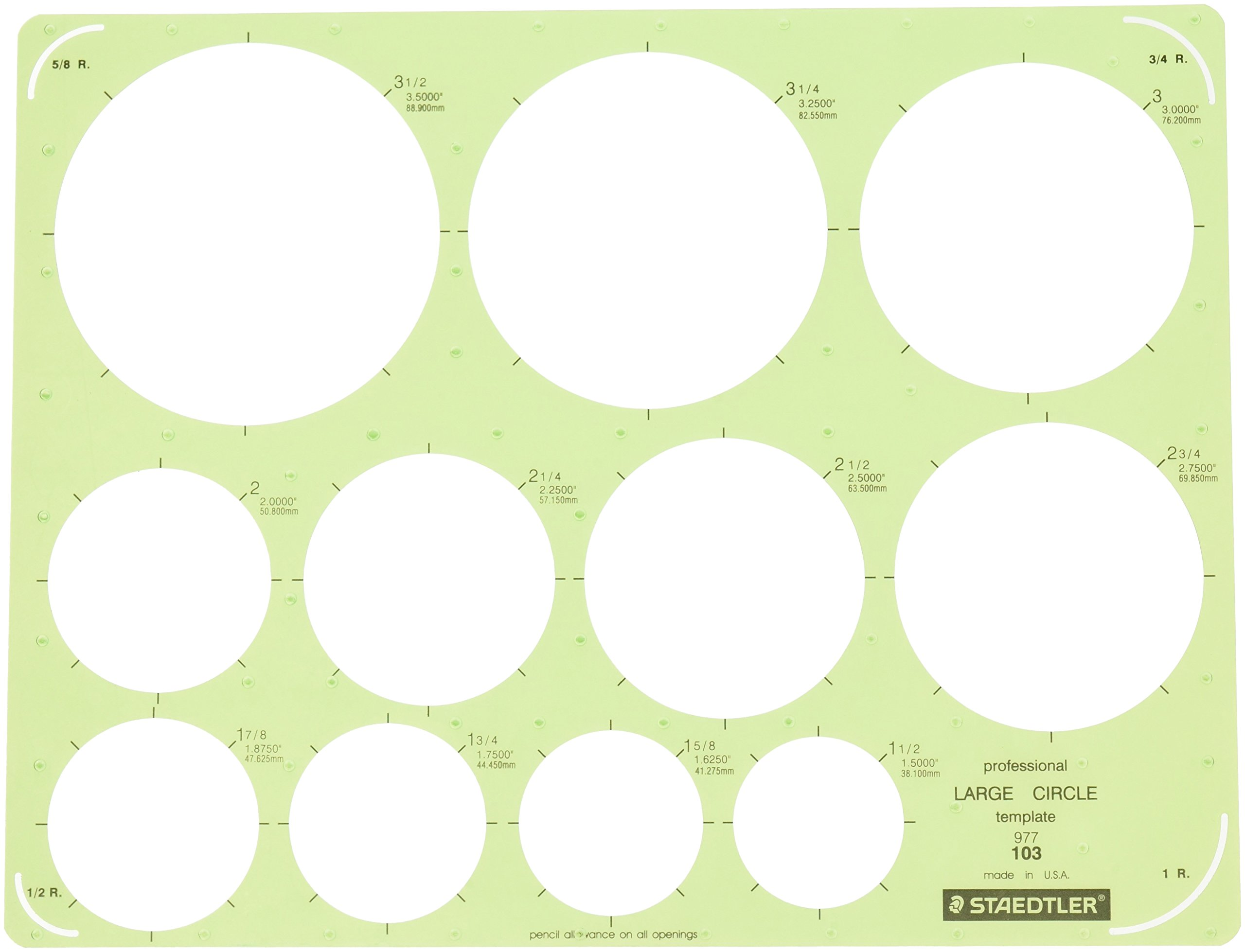 Staedtler Technical Drawing Template (977 103 NA) by STAEDTLER