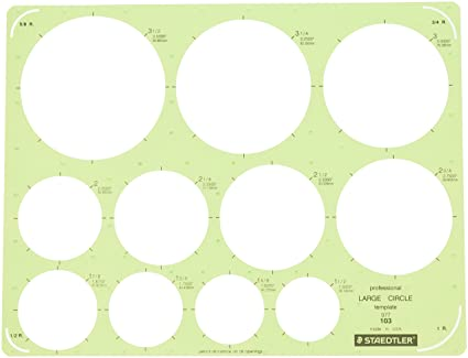 Amazon.com : Staedtler Technical Drawing Template (977 103 NA ...