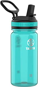 Takeya Tritan Sports Water Bottle with Straw Lid, 18 oz, Ocean