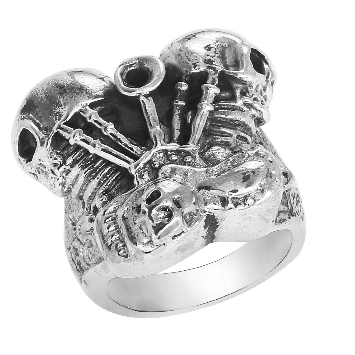 Harley Davidson Wedding Rings.925 Sterling Silver Harley Davidson Ring Panhead Engine Biker Ring Twin Head Mc