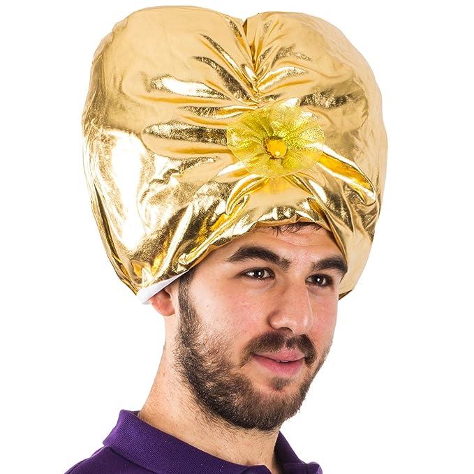 Amazon.com  Sultan Turban - Genie Hat Costume - Swami Costume ... ee116daf344