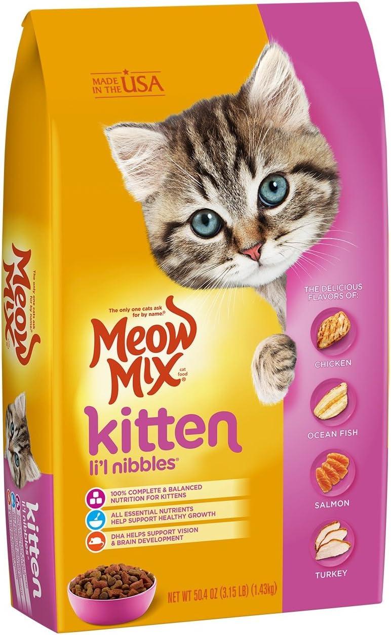 Meow Mix Kitten Li'L Nibbles Dry Cat Food