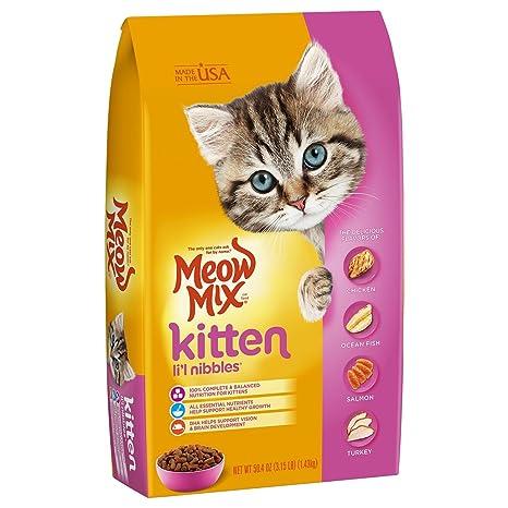 grain free cat food walmart dry cat meow mix kitten lil nibbles dry cat food 315 lb pack of amazoncom