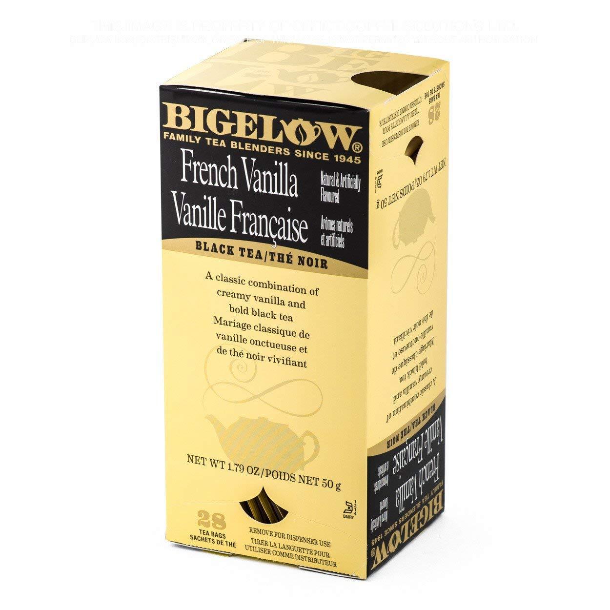 Bigelow French Vanilla Tea 28-Count Box (Pack of 1) Premium Black Tea Flavored with Vanilla Antioxidant-Rich Gluten-Free Full-Caffeine Tea