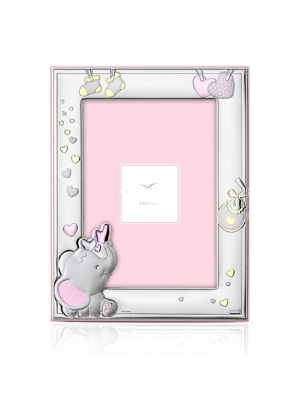 Marco para regalo color Rosa con ELEFANTE y detalles infantiles.
