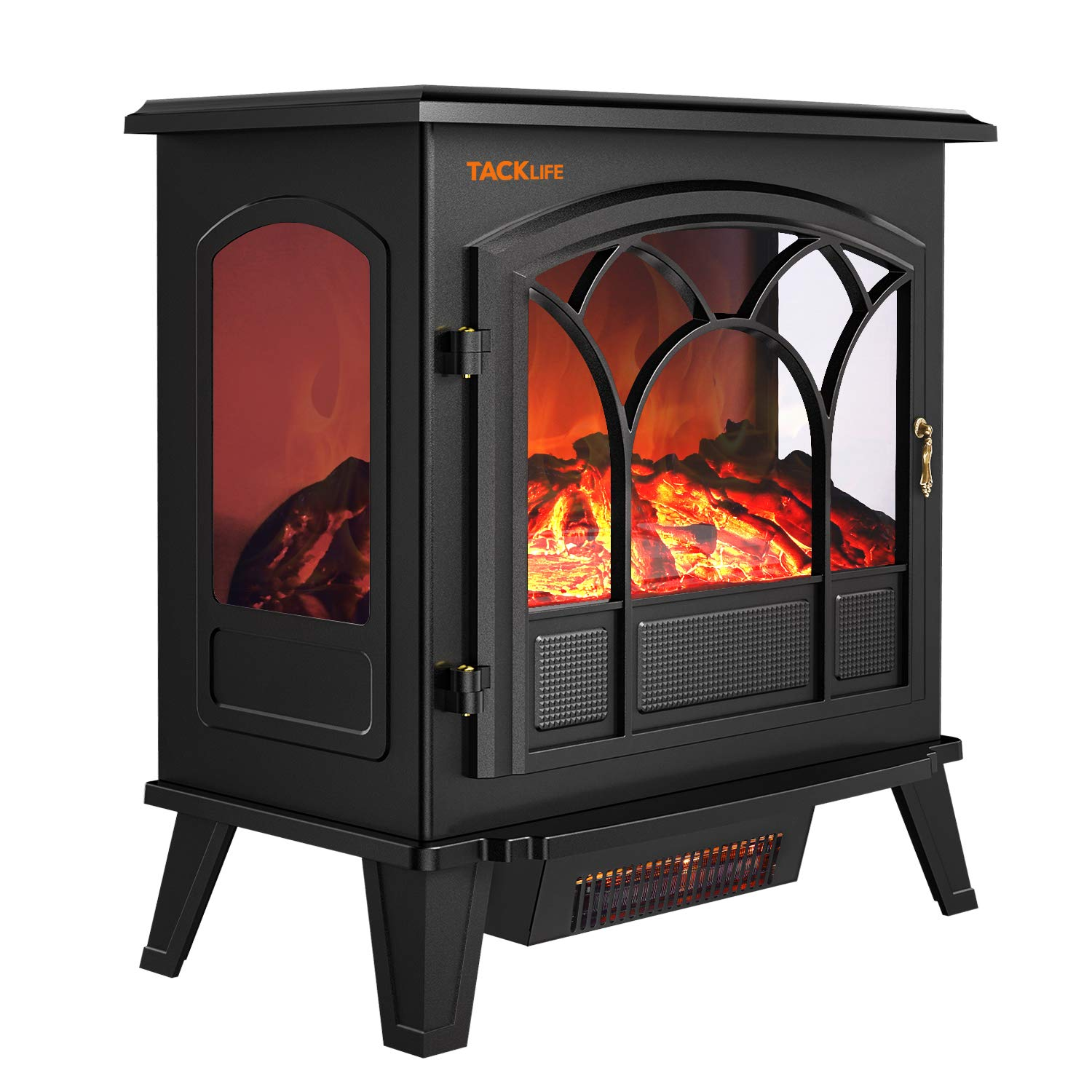TACKLIFE Electric Fireplace, 750 W 1500W Electric Fireplace Stove, 2600 BTU 5200 BTU, L25 W14 H 26.3 , CSA Certified, Portable Indoor Space Heater with 3D Flame Effect ZXH11