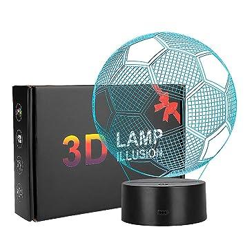 3d Optical Illusion Lampe Coquimbo Fussball 3d Illusion Licht 7 Modelle Touch Control Mit Ladekabel Fur Schlafzimmer Home Hochzeit Geburtstag