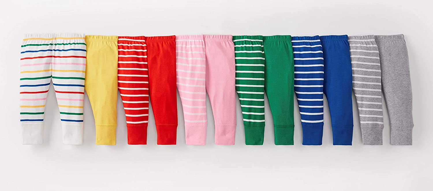 Hanna Andersson Baby//Toddler Bright Basics Wiggle Pants in Organic Cotton