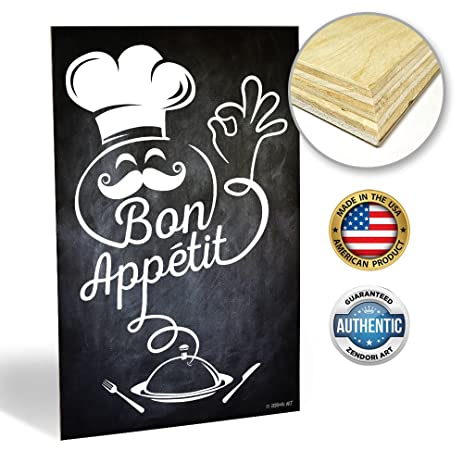Amazon.com: ZENDORI ART Bon Appetit French Italian Fat Chef ...