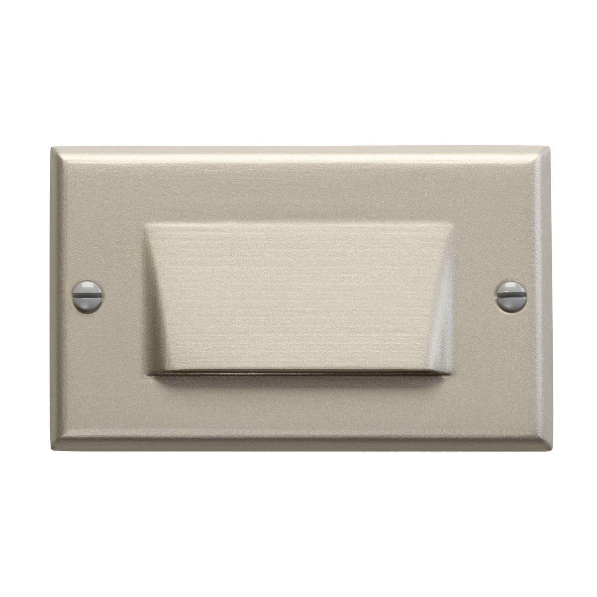 Kichler 12602NI Design Pro Shielded Face 120-volt LED Step and Hall Light, Brushed Nickel Finish