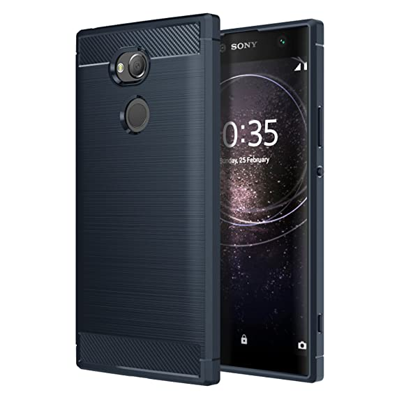 best loved 97b32 82176 Sony Xperia XA2 Ultra Phone Case, MoKo Soft Lightweight TPU Bumper Cover  Carbon Fiber Design Anti-Scratch Slim Back Panel Shock Aborsption Cellphone  ...