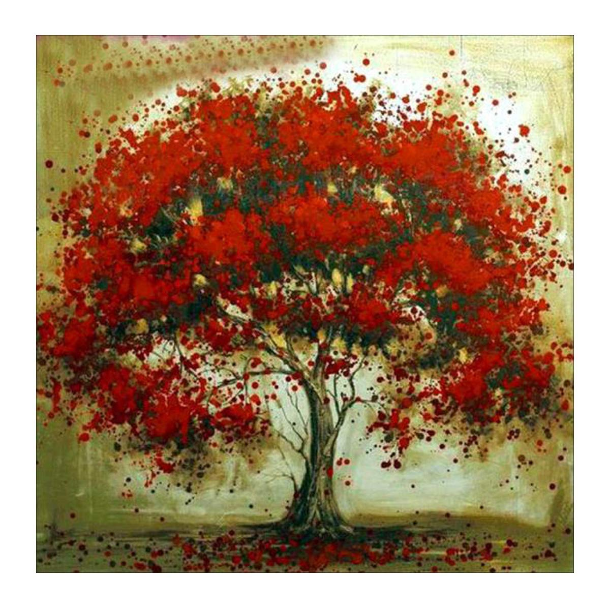 MXJSUA 5D Diamond Painting Full Round Drill Kits for Adults Pasted Embroidery Cross Stitch Arts Craft for Home Wall Decor Falling Flower Tree 12x12in