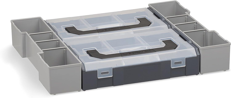 Profi Werkzeugkoffer Bosch Sortimo L-BOXX 102 Insetboxenset Mini Erstklassige Sortierboxen f/ür Kleinteile Aufbewahrungsbox Schrauben leer