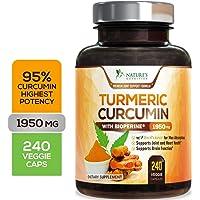 Turmeric Curcumin with BioPerine 95% Curcuminoids 1950mg with Black Pepper for Best...