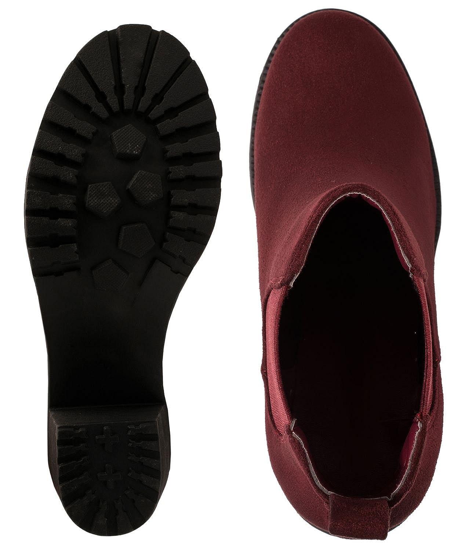 Elara Mujer Botines chunkyr Ayan C/ómodo Ankle Boots