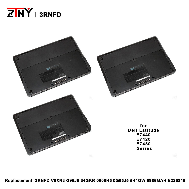 ZTHY High Capacity 54Wh 3RNFD Laptop Battery for Dell Latitude E7440 E7420  E7450 Series Notebook V8XN3 G95J5 34GKR 0909H5 0G95J5 5K1GW 6986MAH E225846