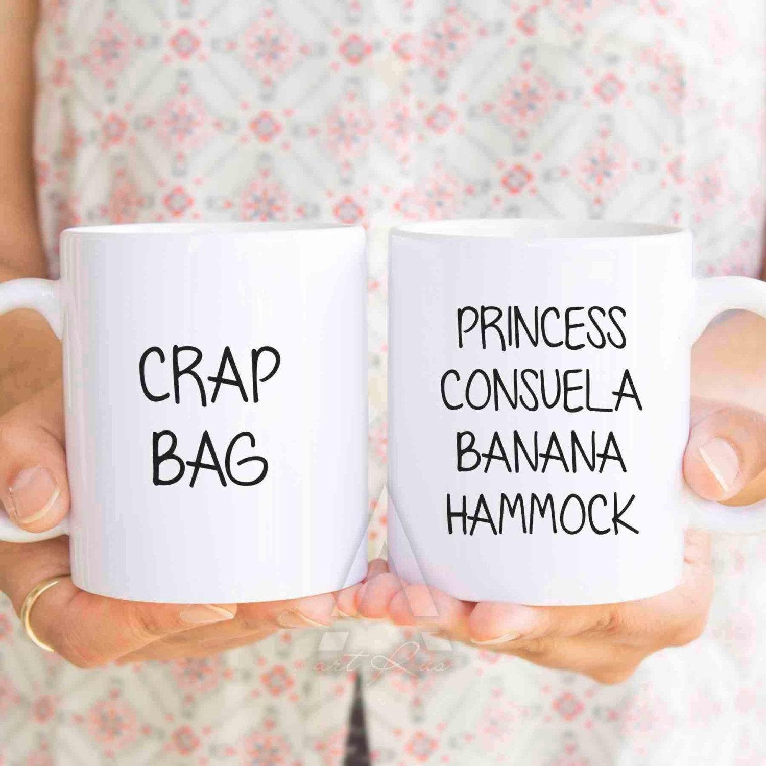 princess consuela banana hammock, Funny Couple Mugs, valentines day gift, His and Hers Coffee Mugs, anniversary gifts, couple mugs, MU208