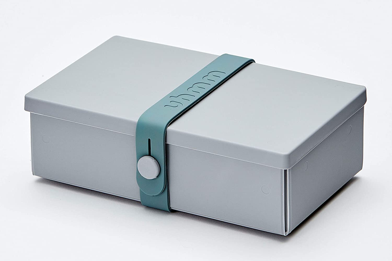 uhmm Box, Aufbewahrungsbox, Lunch Box, No. 1 Light Grey Box/ Petrol Strap 982220