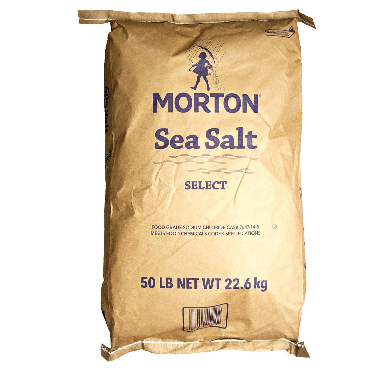 Morton Sea Salt (Food Grade) Bulk 50 lb. Bag