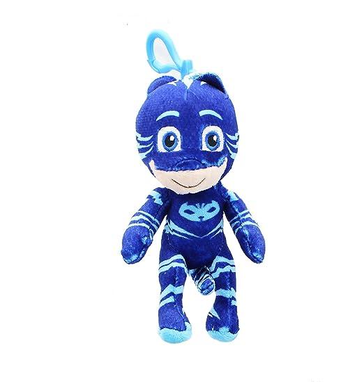 PJ Masks Clip-On Catboy Plush Key chain Coin Clip On BOOK Bag BLUE