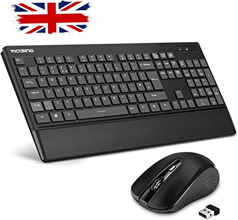 Wired//Wireless Keyboard and Mouse Set Desktop PC Color : Blue, Size : Wired Notebook with Ergonomic Wrist Rest,for Computer Laptop