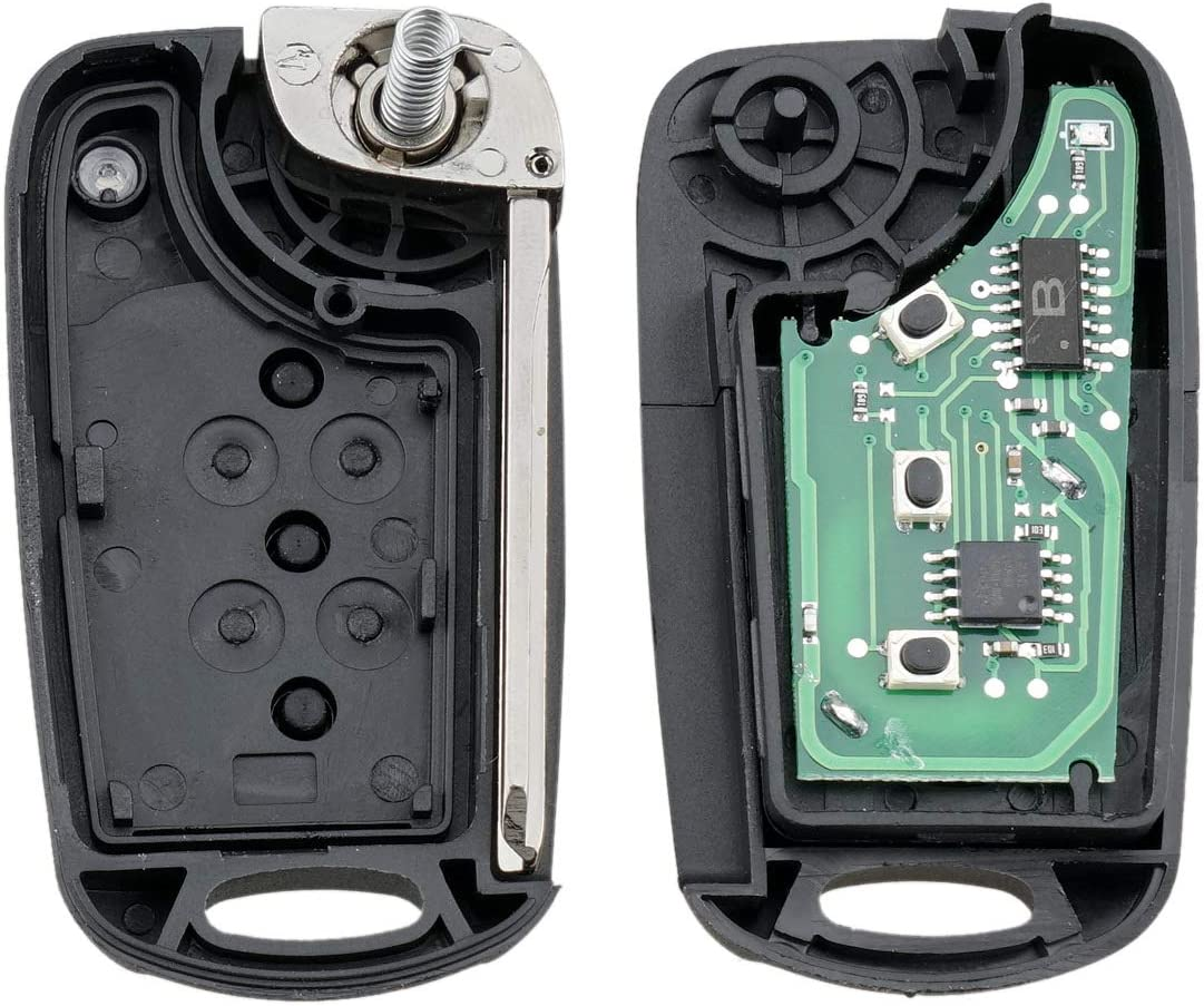 TG Auto 3 Buttons ID46 Chip NYOSEKSAM11ATX//AMLF//95430-2K340 315Mhz Flip Folding Smart Entry Car Fob Remote Key For 2010-2013 Hyundai Soul Sportage