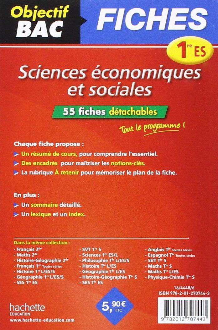 objectif bac fiches dtachables ses 1re es amazonfr alexandre blin livres - Resume Francais Bac Science