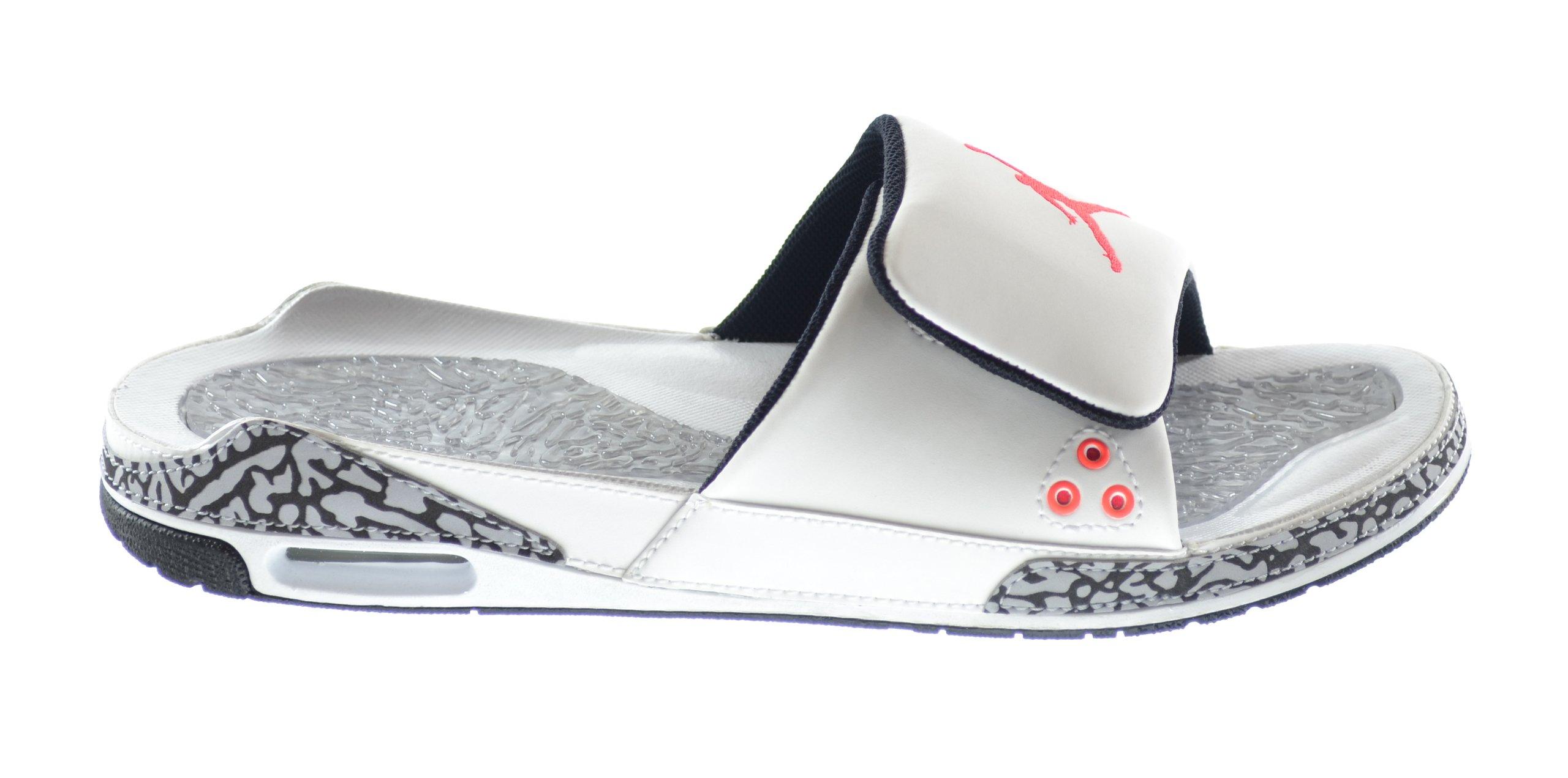 3ee6e91e3d13 Galleon - Jordan Air 3 Men s Slides White Infrared 23-Wolf Grey-Black  428789-106 (9 D(M) US)