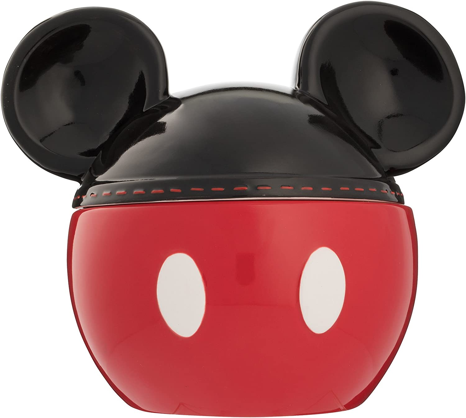 Disney Parks Ceramic Mickey Mouse Gingerbread House Cookie Jar