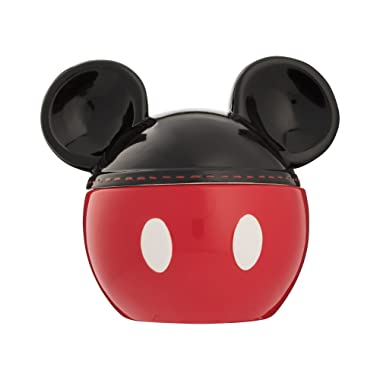 Vandor 89042 Disney Mickey Mouse Sculpted Ceramic Cookie Jar, Red, Black