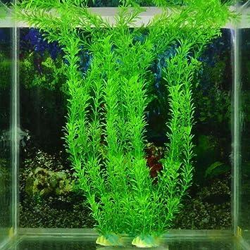 Bescita acuario artificial verde planta césped plantas de agua para pecera acuario decoración adorno planta bajo el agua: Amazon.es: Productos para mascotas
