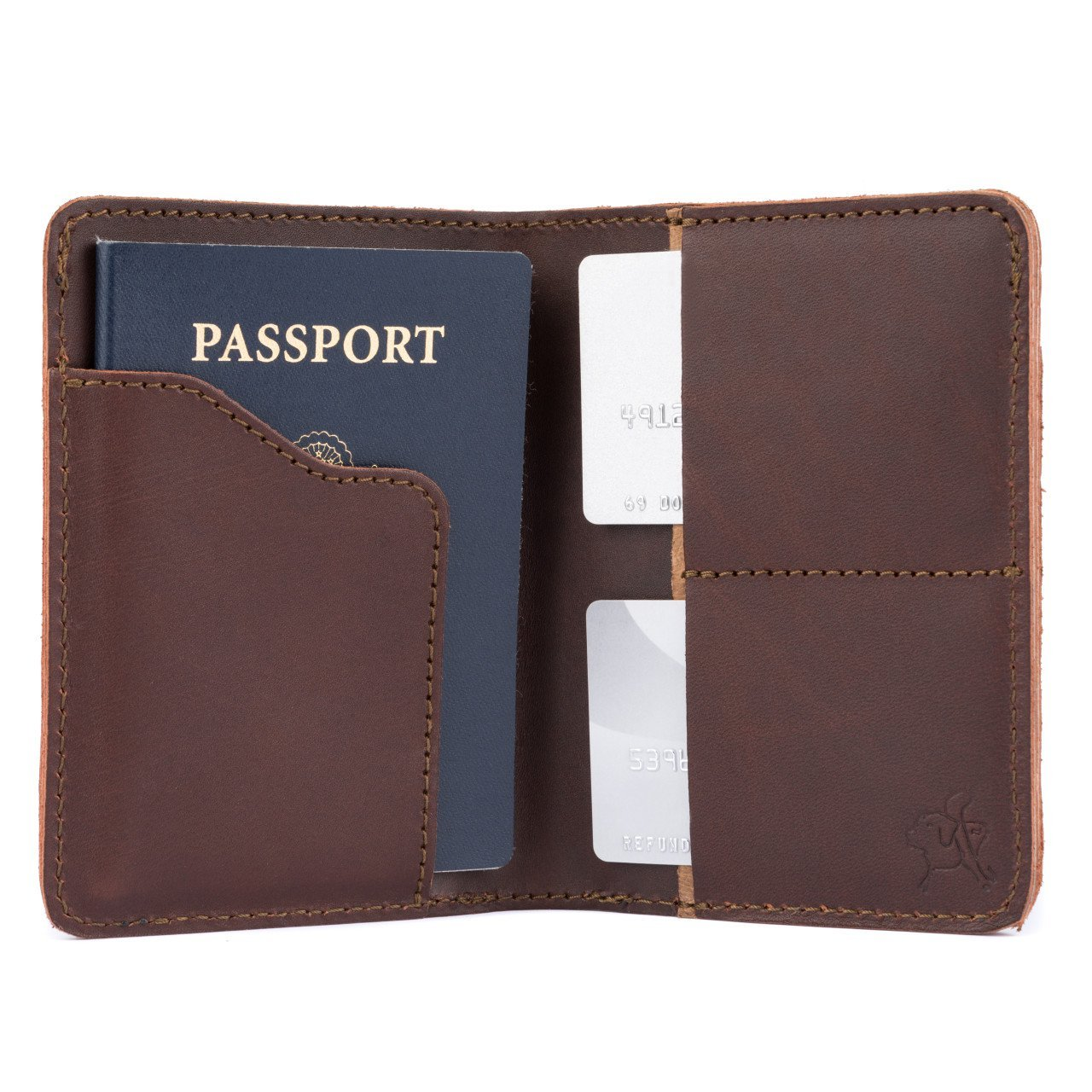 Saddleback Leather Passport Wallet - 100% Full Grain Leather, RFID Blocking Passport Holder with 100 Year Warranty