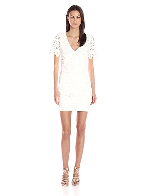 6a8b87240af Amazon.com: French Connection Women's MESI Macrame Jersey Dress: Clothing