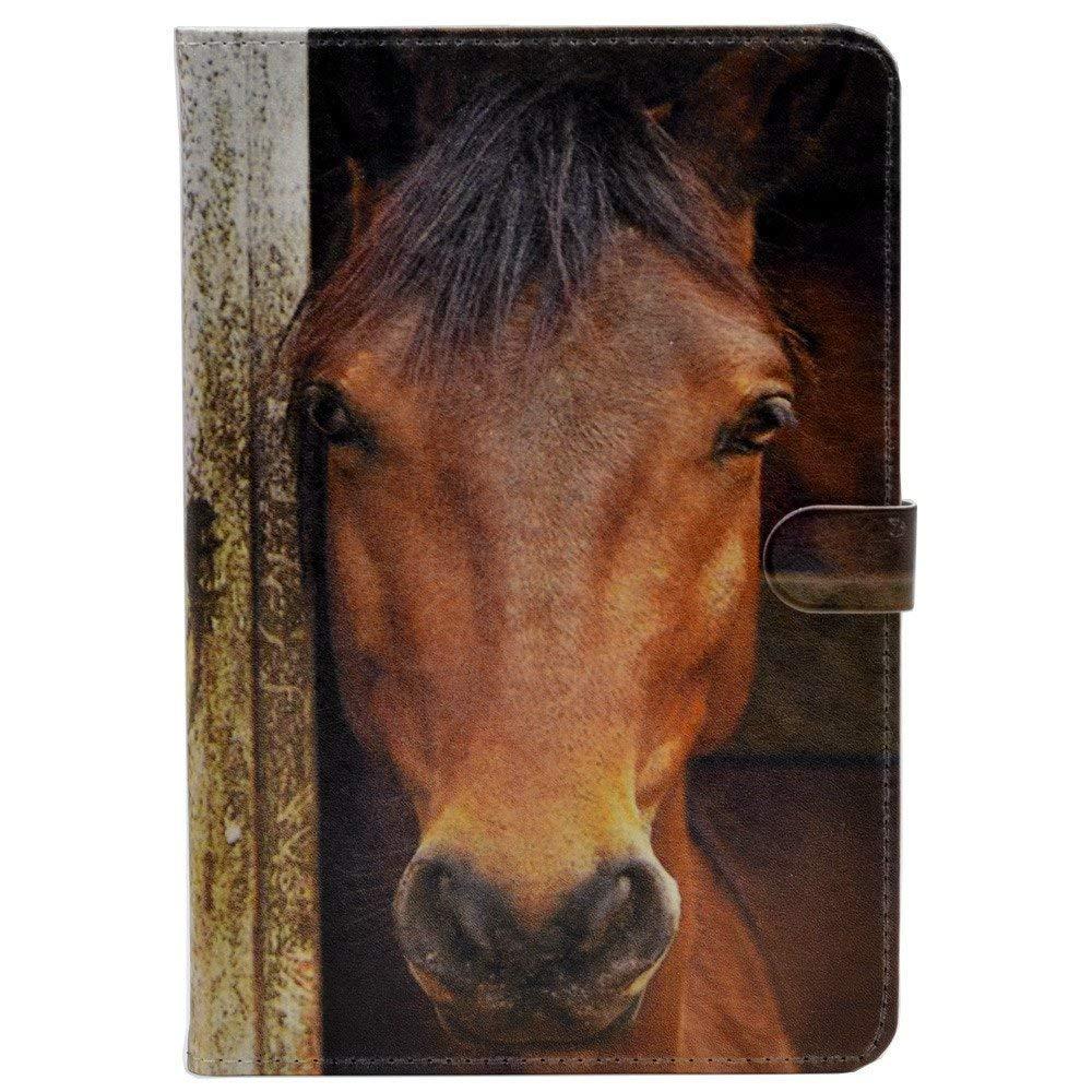 【50%OFF】 iPad Pro 11インチケース ユニークなクローズアップ馬の顔柄 11インチ レザーフリップスタンドケースカバー 11インチ B07NLR475C iPad iPad Proケース(2018)用 B07NLR475C, キングモバイル:00814e66 --- senas.4x4.lt