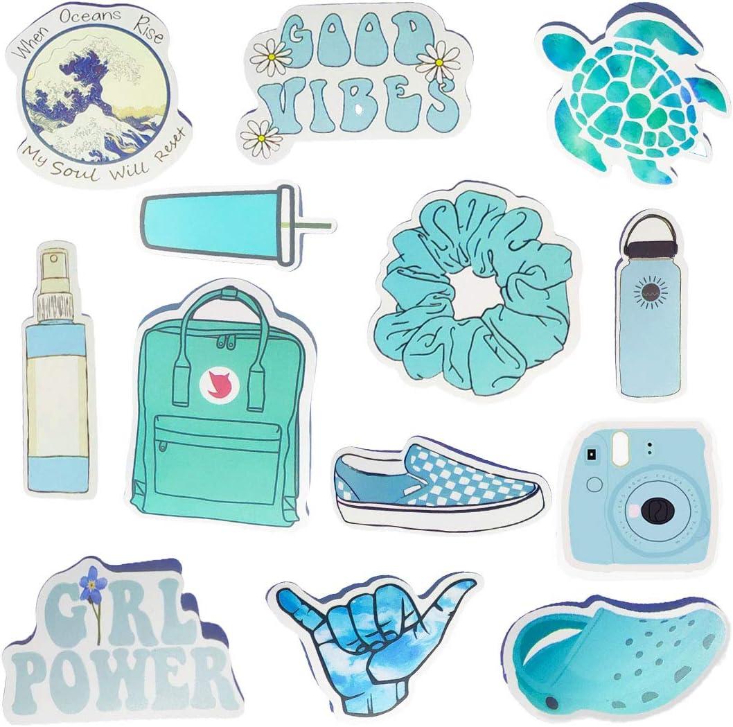 Amazon Com Hrayipt Vsco Stickers Water Bottle Stickers Vinyl Cute Aesthetic Waterproof Blue Sticker Pack Vsco Girl Stuff For Teens Kids Toys Games
