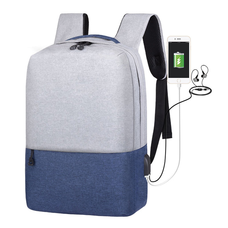 Mochila para portátil Mochila antirrobo con Carga Puerto de Carga con USB y Conector para Auriculares Mochila Escolar Bolsas para PC para Viajes de Trabajo Universitario 5c26d0