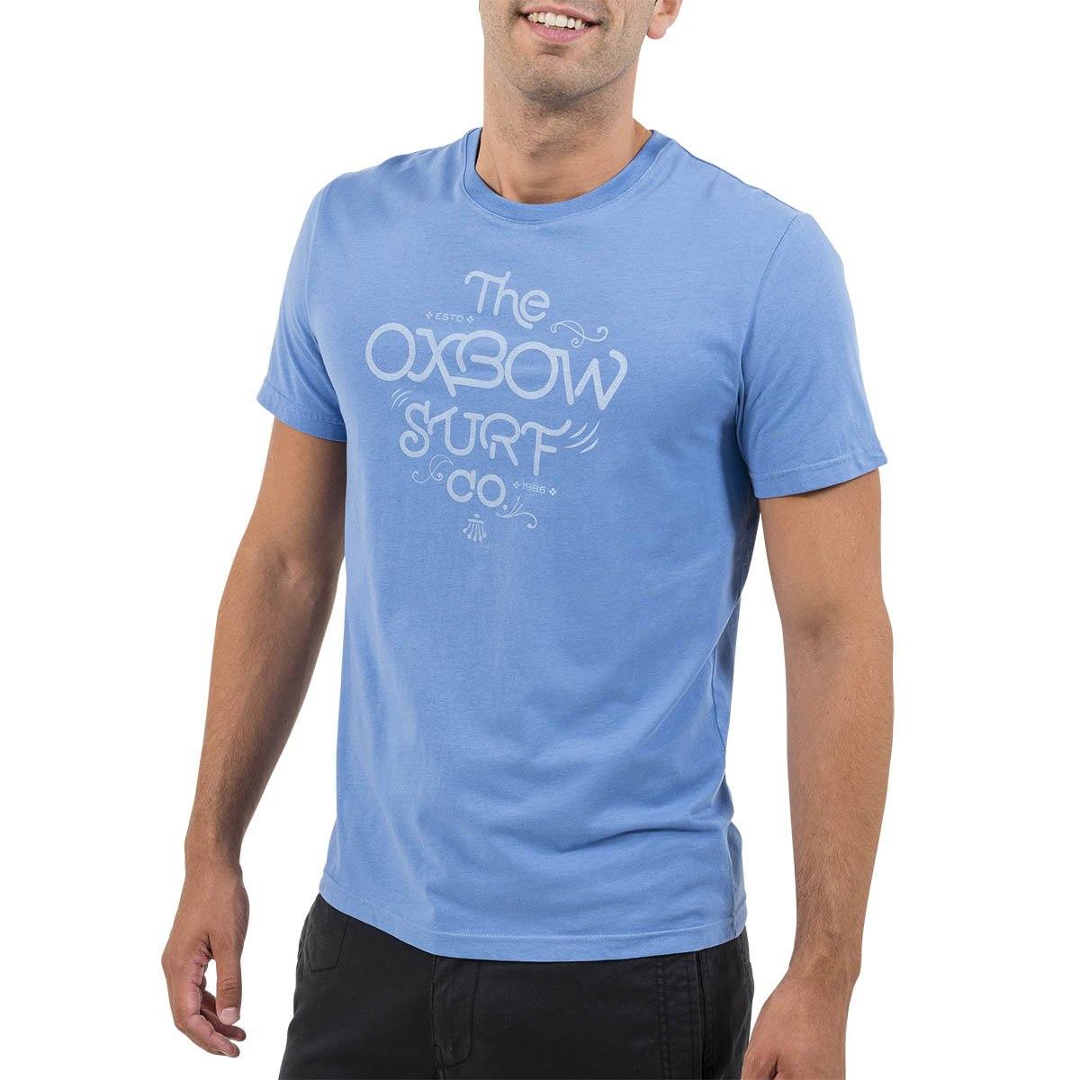 Oxbow oxv048923tee Shirt de Manga Corta para Hombre, Hombre, OXV048923, Azul del Mediterráneo, L Azul del Mediterráneo OXBO3|#Oxbow