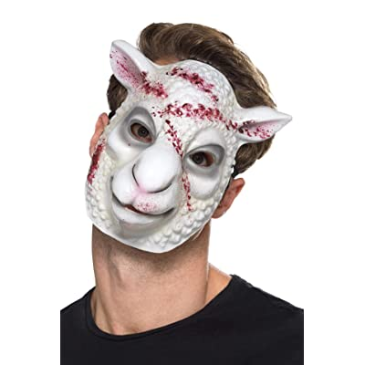 Evil Sheep Killer Mask White, Halloween Fancy Dress Accessories, One Size #US: Clothing