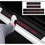GEERUI 4PCS Threshold Protection Sticker Reflective Carbon Fiber Sticker Decorative Door Entry Guard Door Threshold…