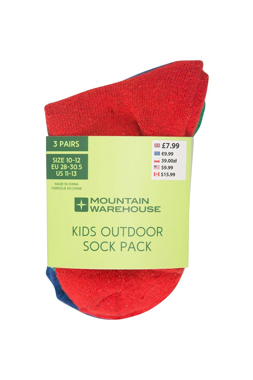 Mountain Warehouse Outdoor Kids Socks - 3 Pack Childrens Summer Socks