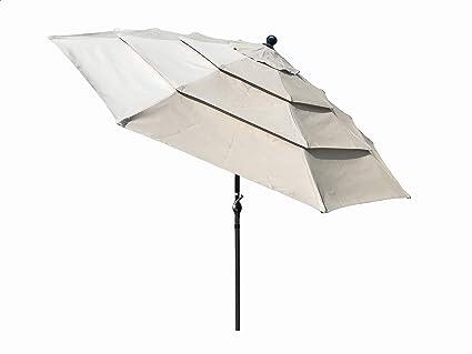 3fafb8d6c733 Amazon.com : Honture 10 Ft Round Umbrella 3 Layers Triple Vent ...